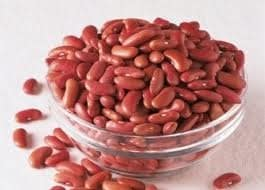 Beans in a glass bowl