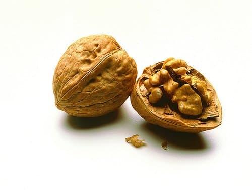Walnut and cracked walnut