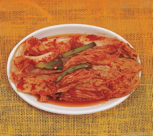 Kimchi on plate