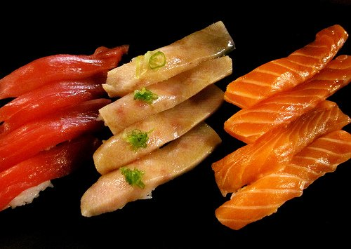 Sushi ready for eating