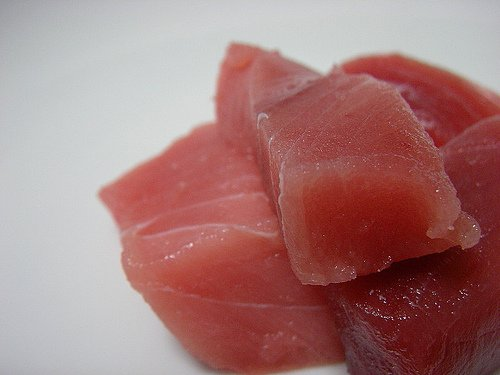Pieces of tuna