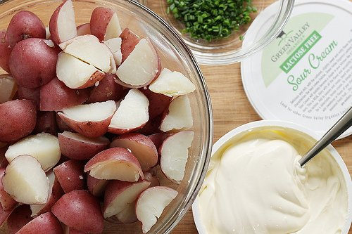 Sour cream and red potatoes