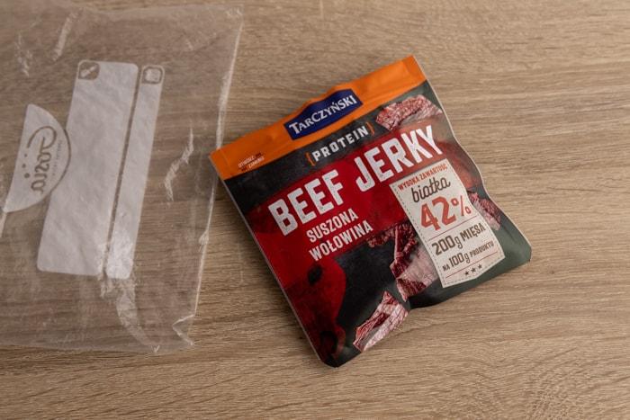 Beef jerky freezing prep