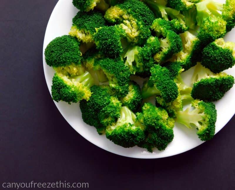 Broccoli after drying