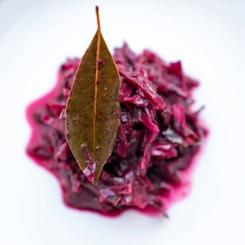 Cooked red cabbage