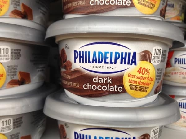 Dark chocolate philadelphia cream cheese