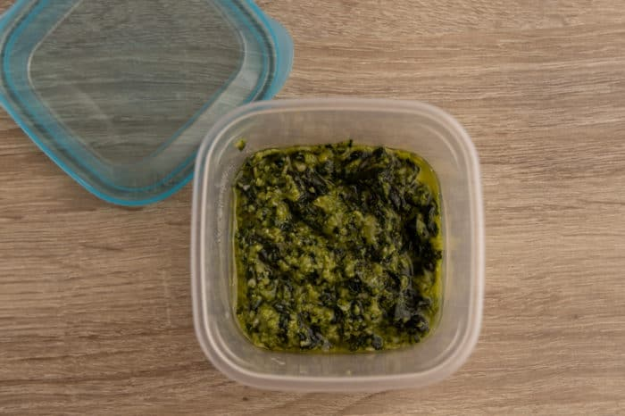 Defrosted pesto
