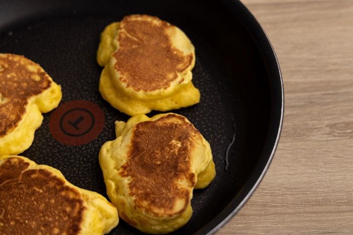 Freshly cooked ricotta pancakes