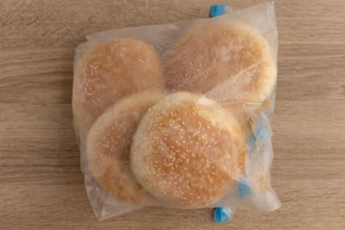 Frozen hambuerger buns