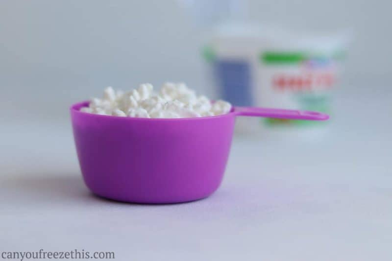Half cup of cottage cheese