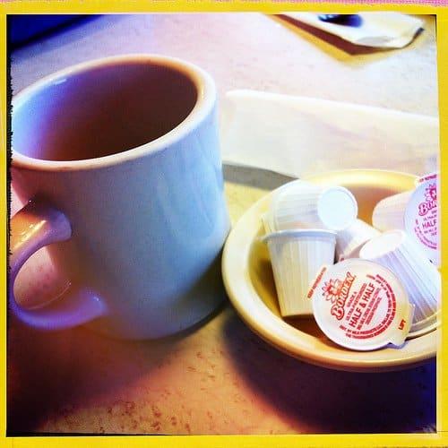 Half half tiny cups and a mug