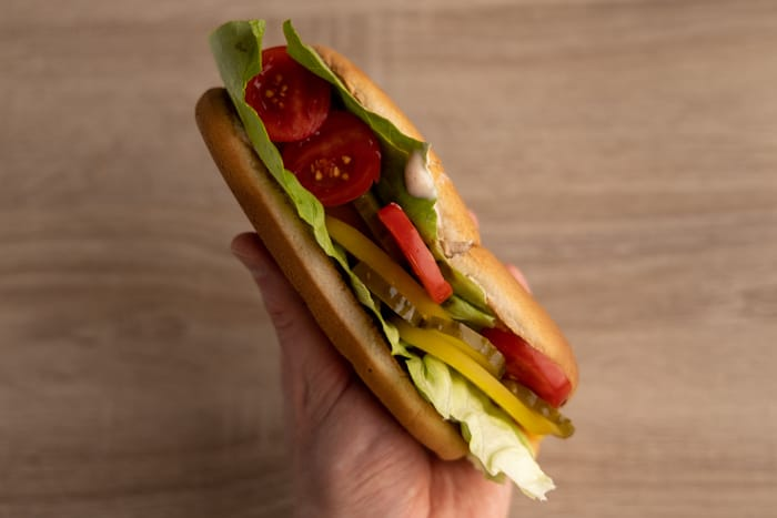 Hot dog ready to eat