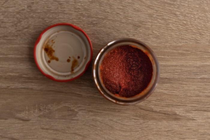 Leftover tomato paste