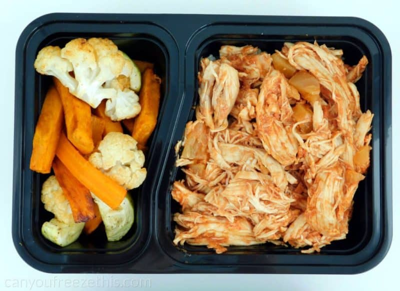 Meal prep container with roasted cauliflower
