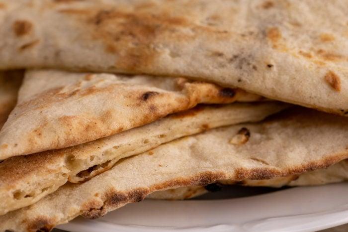 Naan bread closeup