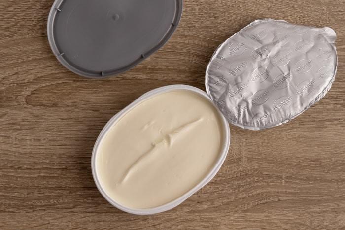 Philadelphia cream cheese before freezing