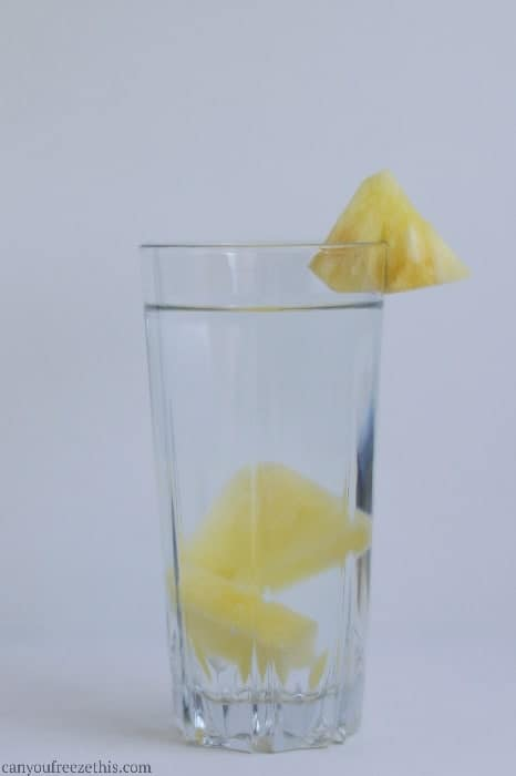 Pineapple-infused water