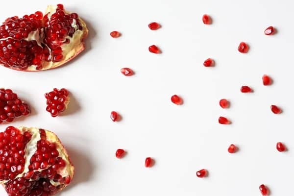 Pomegranate seeds closeup