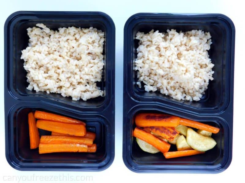 Roasted carrots in meal containers
