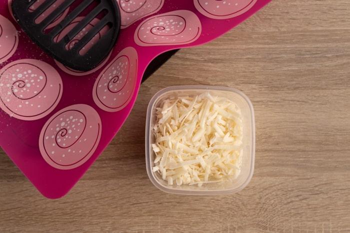 Shredded parmesan ready to freezing long term