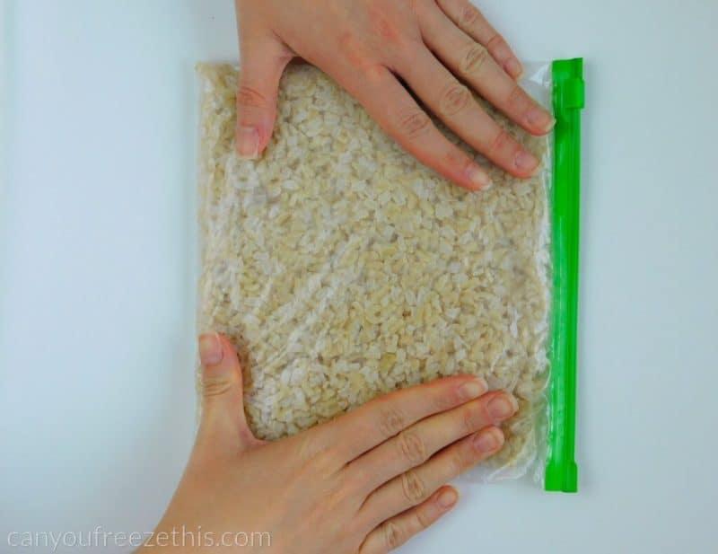 Spreading rice evenly
