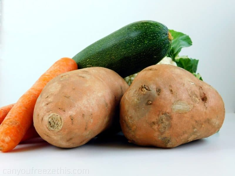 Sweet potatoes and other veggies