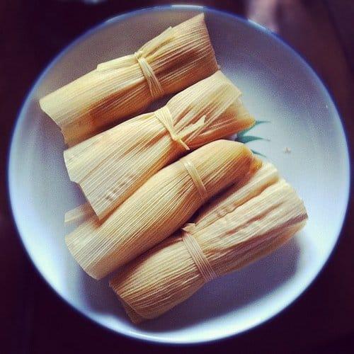 Tamales served