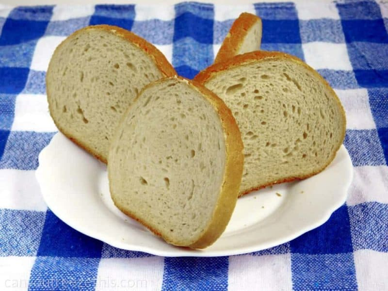 Thawing bread slices