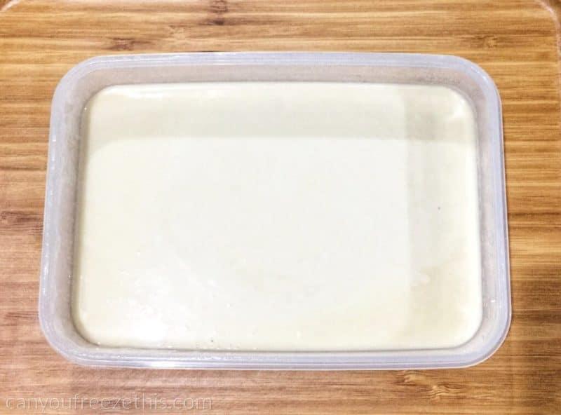 Thawing pancake batter