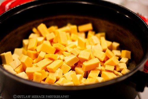 Velveeta cheese cubed