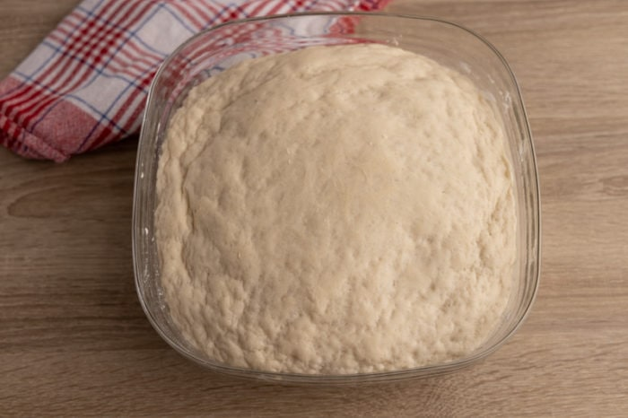 Yeast dough after rising
